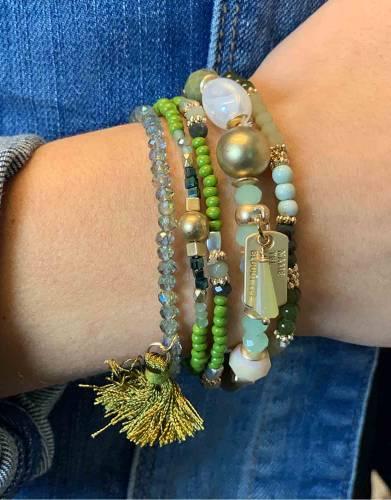 armband Blossom groen